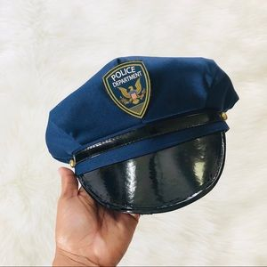 Police Costume Navy Blue Hat